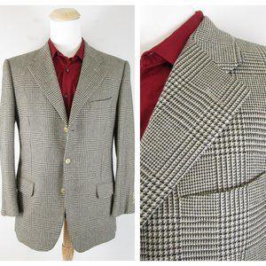 Ermenegildo Zegna Plaid Pure Cashmere Sport Coat